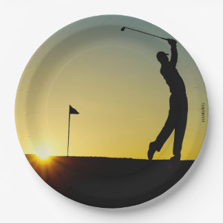 HAMbyWG - Paper Plates - Golfer 9 Inch Paper Plate