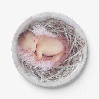 HAMbyWG -  Paper Plates - Nesting Baby 7 Inch Paper Plate