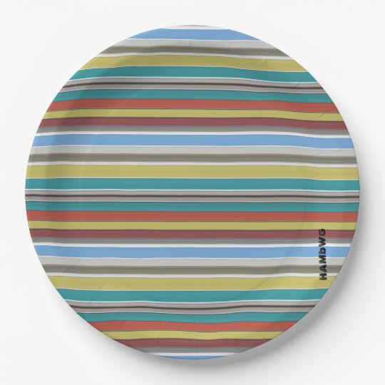 HAMbyWG - Paper Plates - Surf Stripe
