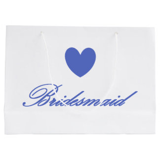 HAMbyWG - Periwinkle Heart Bridesmaid Gift Bag