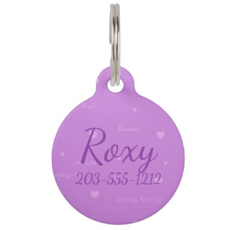 HAMbyWG - Pet Name Tag - Lovey Dovey