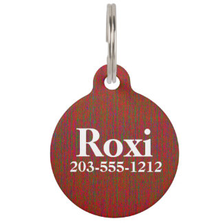 HAMbyWG - Pet Name Tag - Red Mix of Colors