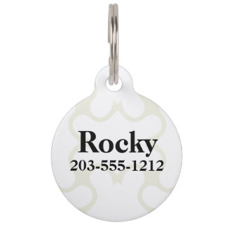 HAMbyWG - Pet Name Tag - Two Tone White Only