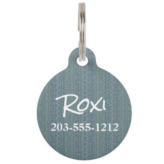 HAMbyWG - Pet Name Tag - Winter Blue