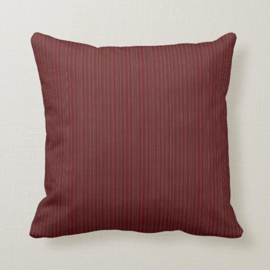 """HAMByWG - Pillow 16"""" - Deep Red Needlepoint Look"""