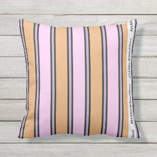 "HAMbyWG Pillow 16"" - Pink & Beige 2"
