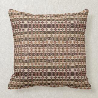 """HAMbyWG - Pillow 20"""" Tribal Brown/Beige Bead Look"""