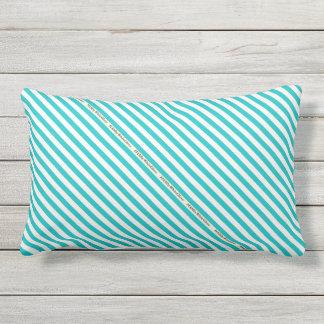 HAMbyWG - Pillow   - Aqua White Stripe