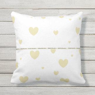 HAMbyWG - Pillow   - Beige Hearts