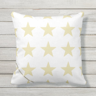 HAMbyWG - Pillow   - Beige Stars on white