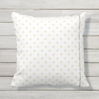 HAMbyWG - Pillow   - Beige White Polka Dots