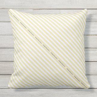 HAMbyWG - Pillow   - Beige White Stripe