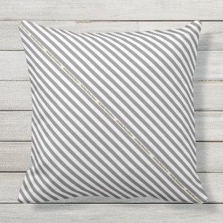 HAMbyWG - Pillow   - Gray White Stripe
