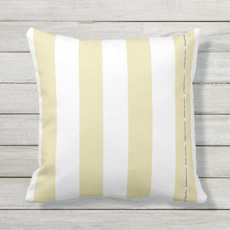 HAMbyWG - Pillow   - Large Beige White Stripes