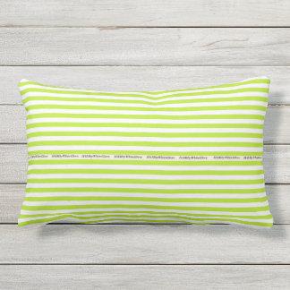 HAMbyWG - Pillow   - Lime White Stripe