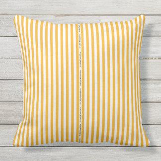 HAMbyWG - Pillow   - Orange White Stripe