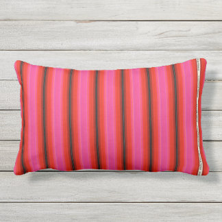 HAMbyWG - Pillow   - Pink Red  Stripe