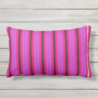 HAMbyWG - Pillow   - Pink Violet Glowing  Stripe