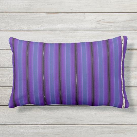 HAMbyWG - Pillow   - Purple Blue Violet Stripe