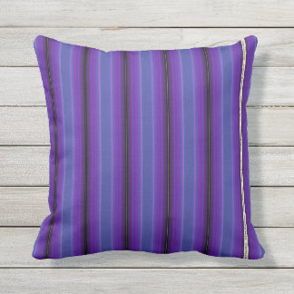 HAMbyWG - Pillow   -Purple Blue Violet Stripe