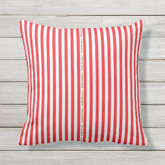 HAMbyWG - Pillow   - Red White Stripe