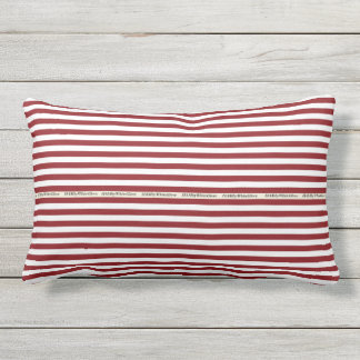 HAMbyWG - Pillow   -Red White Stripe