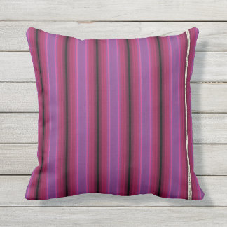 HAMbyWG - Pillow   - Rich Pink Violet Stripe