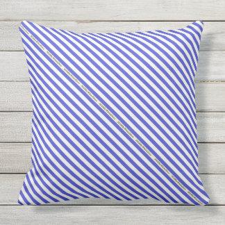 HAMbyWG - Pillow   - Royal White Stripe