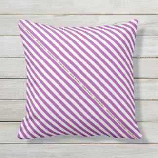 HAMbyWG - Pillow   - Violet White Stripe