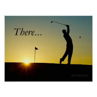 HAMbyWG - Poster - Golfer in Sunset