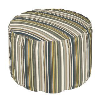 HAMbyWG - Pouf Chair  - Teal w Mushroom Stripes