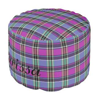 HAMbyWG - Pouf Chair  - Violet Plaid