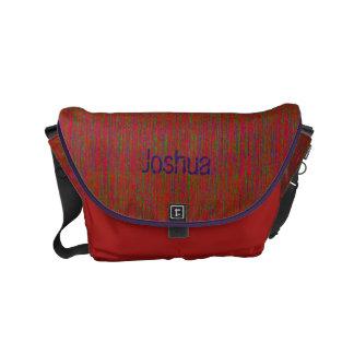 HAMbyWG - Rickshaw Messenger Bag - Red/Gr/Purple