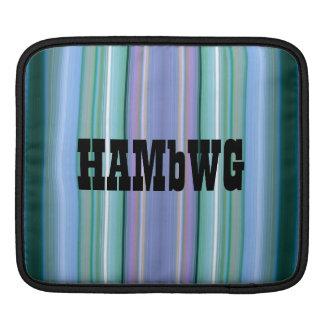 HAMbyWG - Rickshaw Sleeve -Aqua Blue Green Purple