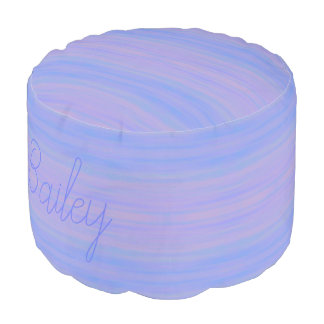 HAMbyWG - Round Pouf Chair - Blue Violet Wash