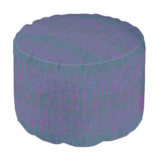 HAMbyWG - Round Pouf Chair -  Crazy Teal Violet