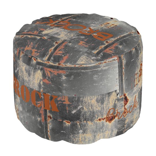 HAMbyWG - Round Pouf Chair - Custom Distressed