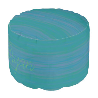 HAMbyWG - Round Pouf Chair - Teal Wash