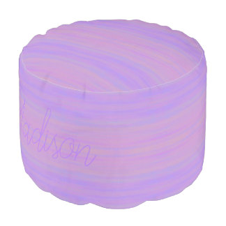 HAMbyWG - Round Pouf Chair - Violet  Wash