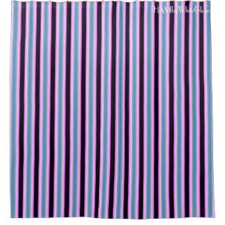 HAMbyWG - Shower Curtain - Blue Violet Black