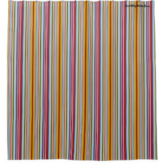 HAMbyWG - Shower Curtain - Candy Cane Stripes