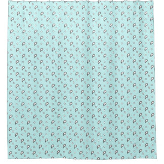 HAMbyWG Shower Curtain - Paisley Mint w/ Blk/Wh