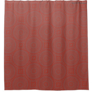 HAMbyWG - Shower Curtain - Red Boho