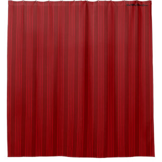 HAMbyWG - Shower Curtain -  Red Rose Stripe