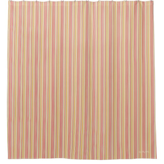HAMbyWG - Shower Curtain - Rose Beige Bar Stripe
