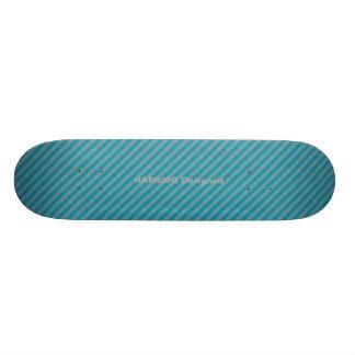 HAMbyWG - Skateboard - Aqua Stripes
