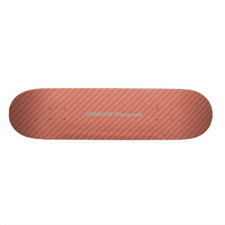 HAMbyWG - Skateboard - Orangy Diagonal Stripes