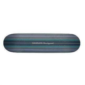HAMbyWG - Skateboard - Teal Stripes