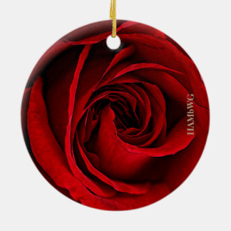 HAMbyWG Square Ornament - Red Rose