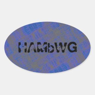 HAMbyWG - Stickers - Blue Logo Distressed